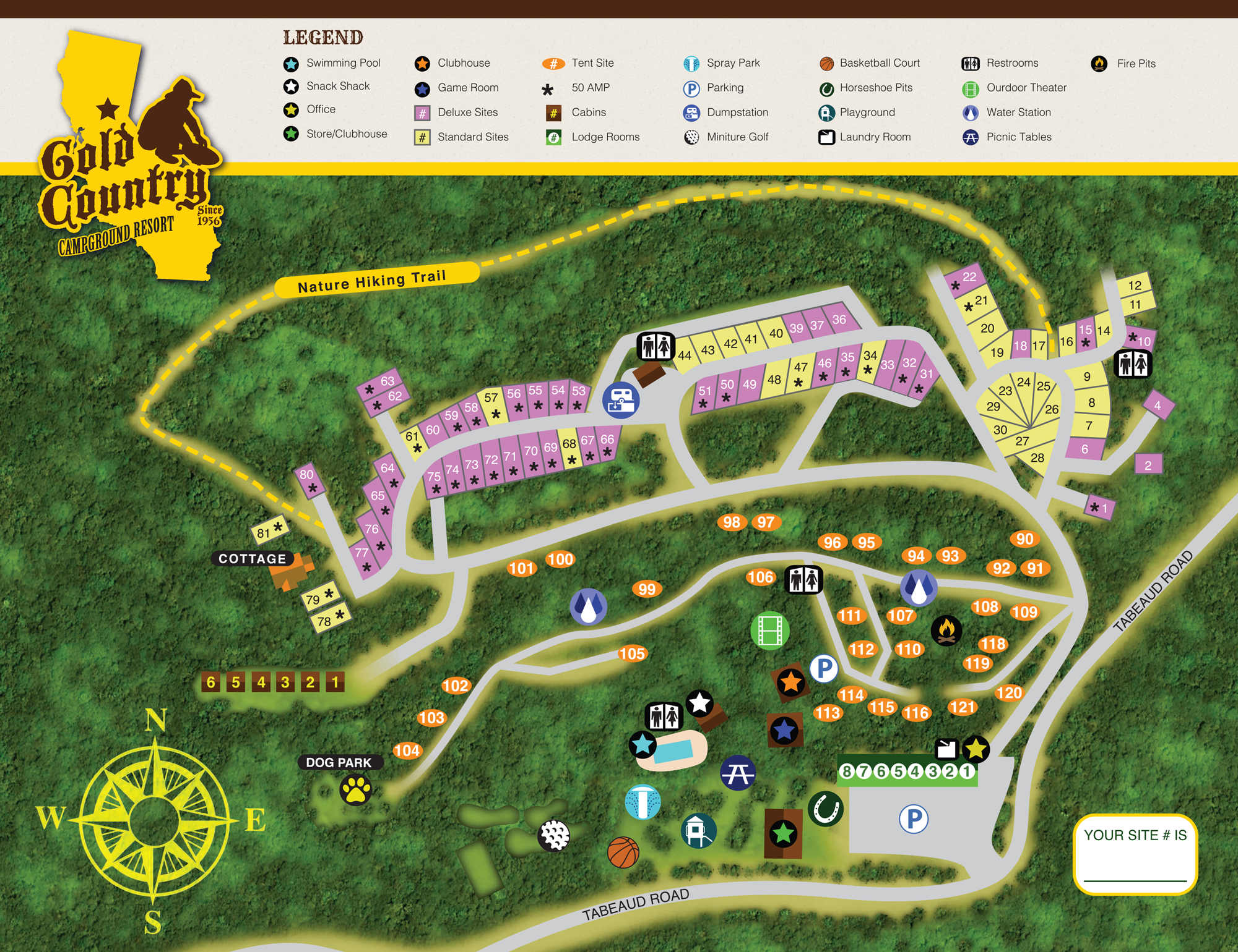Campgrounds In California Map.Gold Country Campground Resort Sitemap