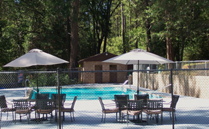 Pool Side at Gold Country Campground