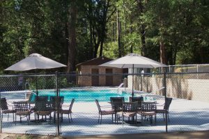 Pool side Relax and cool down at Gold Country Campground
